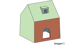 3D rendering of monopoly house with undercuts made with side-action cams